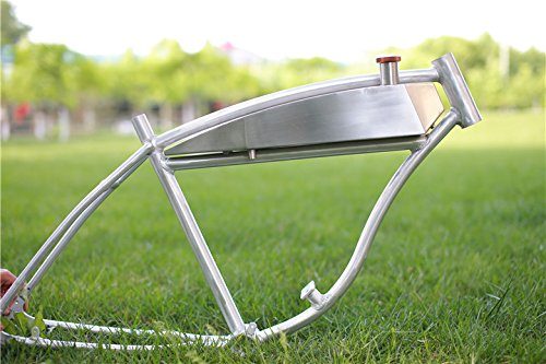 Stainless Steel Motorized Bicycle Fuel Tank For Schwinn Panther Straight Bar