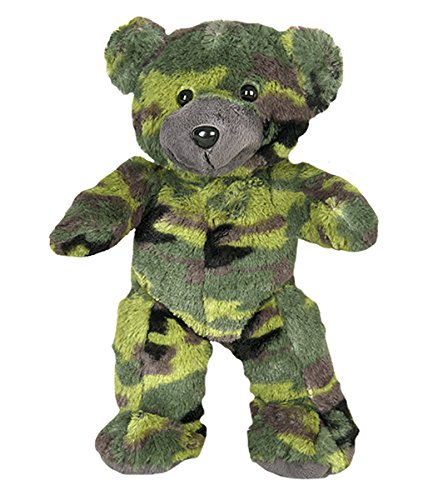 """8"""" Recordable Camoflauge Military Bear w