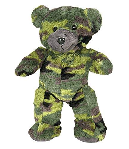 Cuddly Soft 8 inch Stuffed Camo Teddy Bear - We Stuff 'em...You Love 'em! from Stuffems Toy Shop