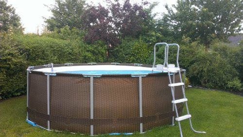 Bestway 12801nl 02 Frame Pool Set 427 X 122 Cm Premium Rattanoptik 7