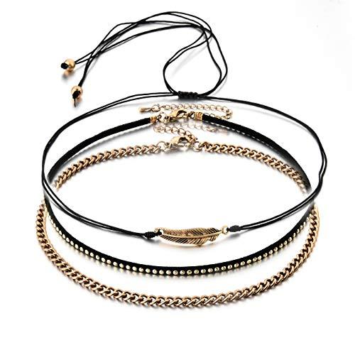 Choker Multi Layered Necklace Chain Necklace Set