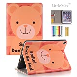 LittleMax iPad Pro 10.5 Case with Pencil Holder, Slim Fit Folio Flip Kickstand Protective Case Auto Wake/Sleep Function Cover for Apple iPad Pro 10.5 Inches -# Smile Bear
