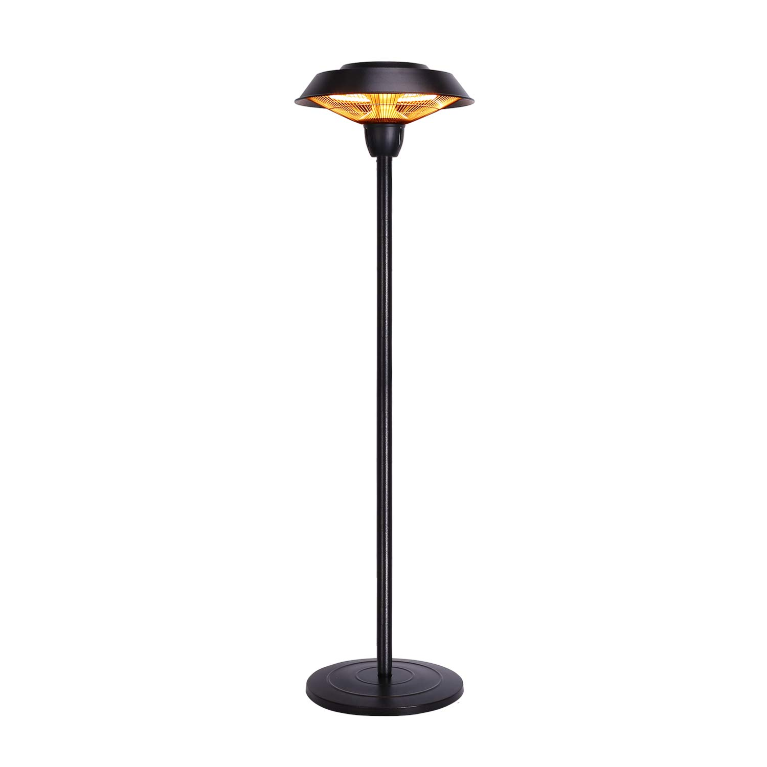 Star Patio Outdoor Freestanding Electric Patio Heater, Infrared Heater, Hammered Bronze Finished, Portable Heater Suitable as a Balcony Heater, BBQ and Outdoor Party Heater, 1566-C-S by Star Patio