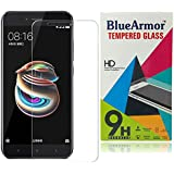 BlueArmor Xiaomi Mi A1 Tempered Glass[For New Release Xiaomi Mi Android One] [Covers Only Flat Part Of Screen due to Curved Edges of Phone] Screen Guard Protector - Clear