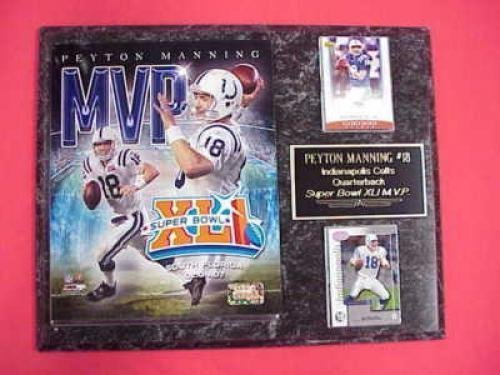 Harrison Indianapolis Colts Super Bowl - Peyton Manning Indianapolis Colts Super Bowl MVP 2 Card Collector Plaque w/8x10 Special Edition Photo