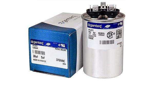 GE Round Dual Run Capacitor Upgrade 5 uf MFD 370 Volt VAC 97F9803-25