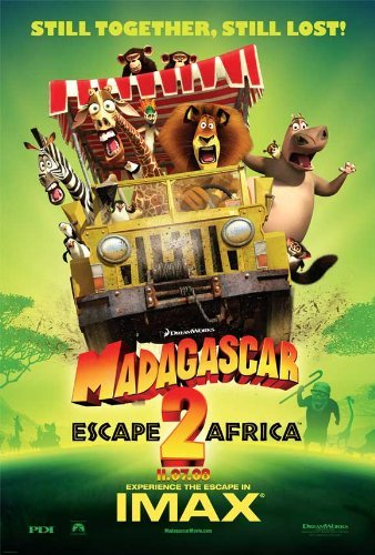 Madagascar: Escape 2 Africa POSTER Movie (11 x 17 Inches - 28cm x 44cm) (2008) (Style F) (Madagascar Movie Poster)