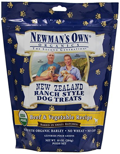 Newman's Own Organics Beef &Vegetable New Zealand Ranch Style Dog Treats, 10-Ounce (Pack of 6)