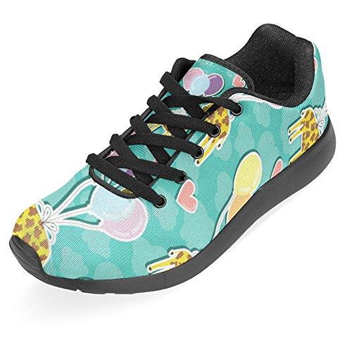 Interestprint Kvinna Jogging Kör Sneaker Lättvikts Gå Gång Casual Komfort Sports Löparskor Söt Giraff Och Ballonger Multi 1