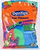 DenTek Fun Flossers for Kids, Wild Fruit Floss Picks,Easy Grip for Kids,75 Count