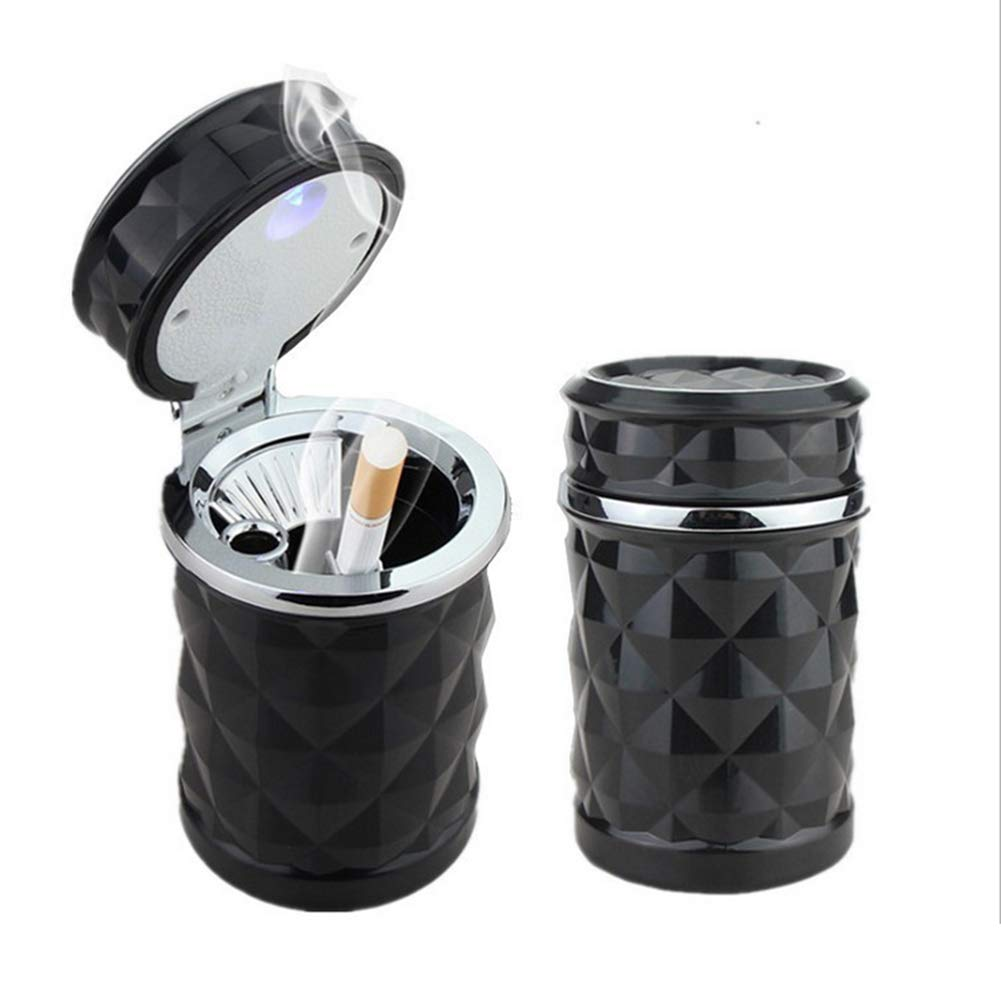 YMXLJJ Diamond Ashtray Portable Fashion Creative Ashtray High Temperature with LED Light Cigarette Smoke Office Home Car Travel Accessories,Black by YMXLJJ (Image #8)