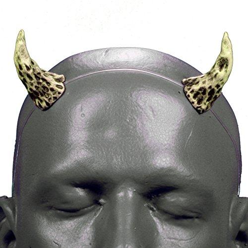 Wizard v1 Bone White & Black Demon Devil Horns w/ self locking clear