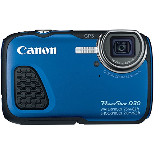 Canon PowerShot D30 Waterproof Digital Camera, Blue by Canon