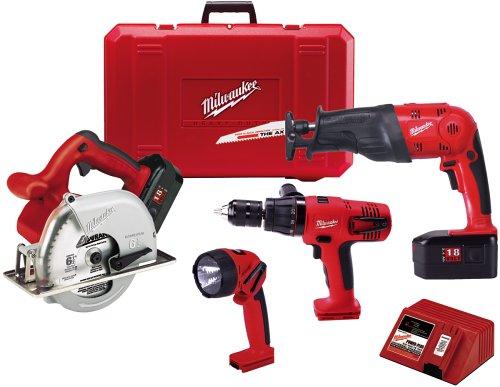 Milwaukee 0924-24 18-Volt Ni-Cad Cordless 4-Tool Combo Kit