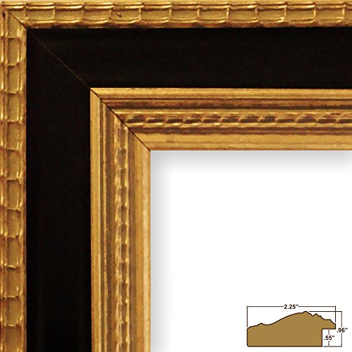 Craig Frames 6436 22 by 28-Inch Picture Frame, Ornate Finish, 2.25-Inch Wide, Gold with Black (Gold Picture Ornate Frames)