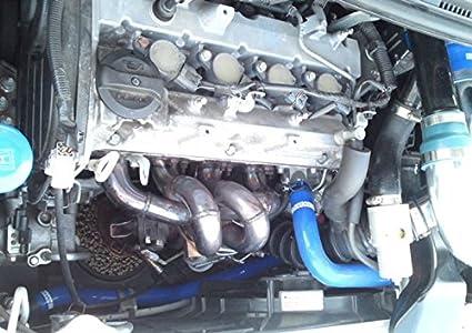 Autobahn88 Silicona refrigerante del radiador Kit de la manguera -Azul -Sin kit de abrazaderas: Amazon.es: Coche y moto