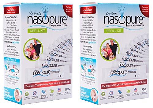 Nasopure Refill Kit - 40 buffered salt packets (Set of 2)