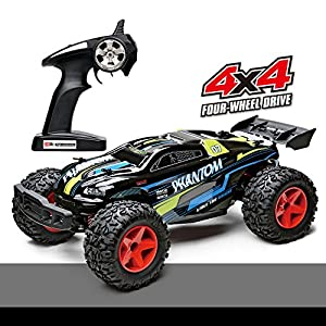Offroad Remote Control Car, Demaxis Rtr Electric 4x4 High Speed 30 mph Rc Car Monster Truck 1/12 Scale Outdoor Rc Desert Buggy with Led Lights