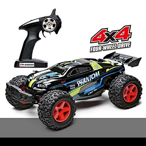 Demaxis Offroad Remote Control Car, Rtr Electric 4x4 High Speed 30 mph Rc Car Monster Truck 1/12 Scale Outdoor Rc Desert Buggy with Led Lights
