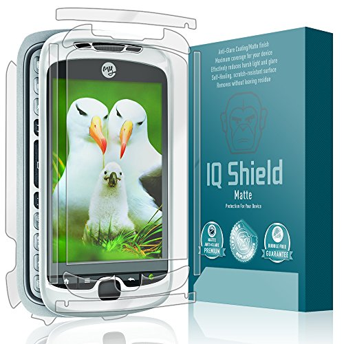 IQ Shield Matte Full Coverage Anti-Glare Full Body Skin + Screen Protector for T-Mobile MyTouch 3G Slide Anti-Bubble Film