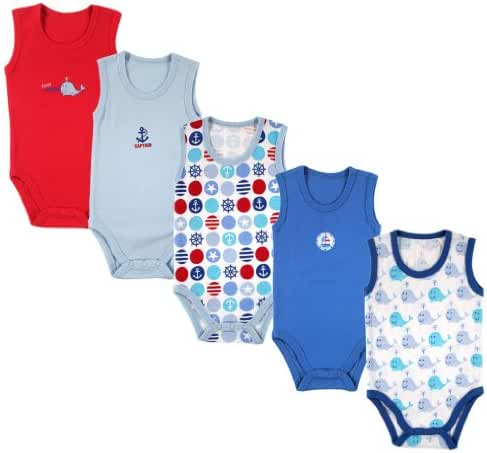 Luvable Friends 5-Pack Lightweight Sleeveless Bodysuits