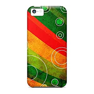 New Fashionable AlfredJWhite EblltAQ4249ULswO Cover Case Specially Made For Iphone 5c(circle Outlines On Grungy Waves)
