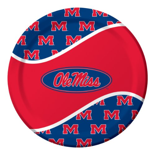 8-Count Paper Dinner Paper Plates, University of Mississippi Rebels