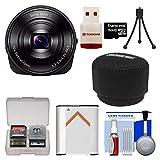 Sony Cyber-Shot DSC-QX10 Smartphone Attachable Lens-Style Digital Camera (Black) with 16GB Card & Reader + Case + Battery + Flex Tripod + Kit