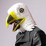 CreepyParty Novelty Halloween Costume Party Latex Birds Head Mask (Eagle)