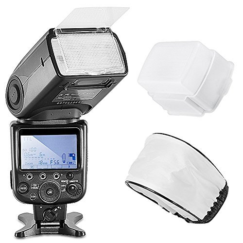 Neewer NW910/MK910 I-TTL HSS 1/8000s LCD Display Master/Slave Flash for D5100 D7000 D7100 D7200 and other Nikon DSLR Cameras Kit includes:(1)NW910/MK910 Flash+(1)Soft and Hard Flash Diffuser