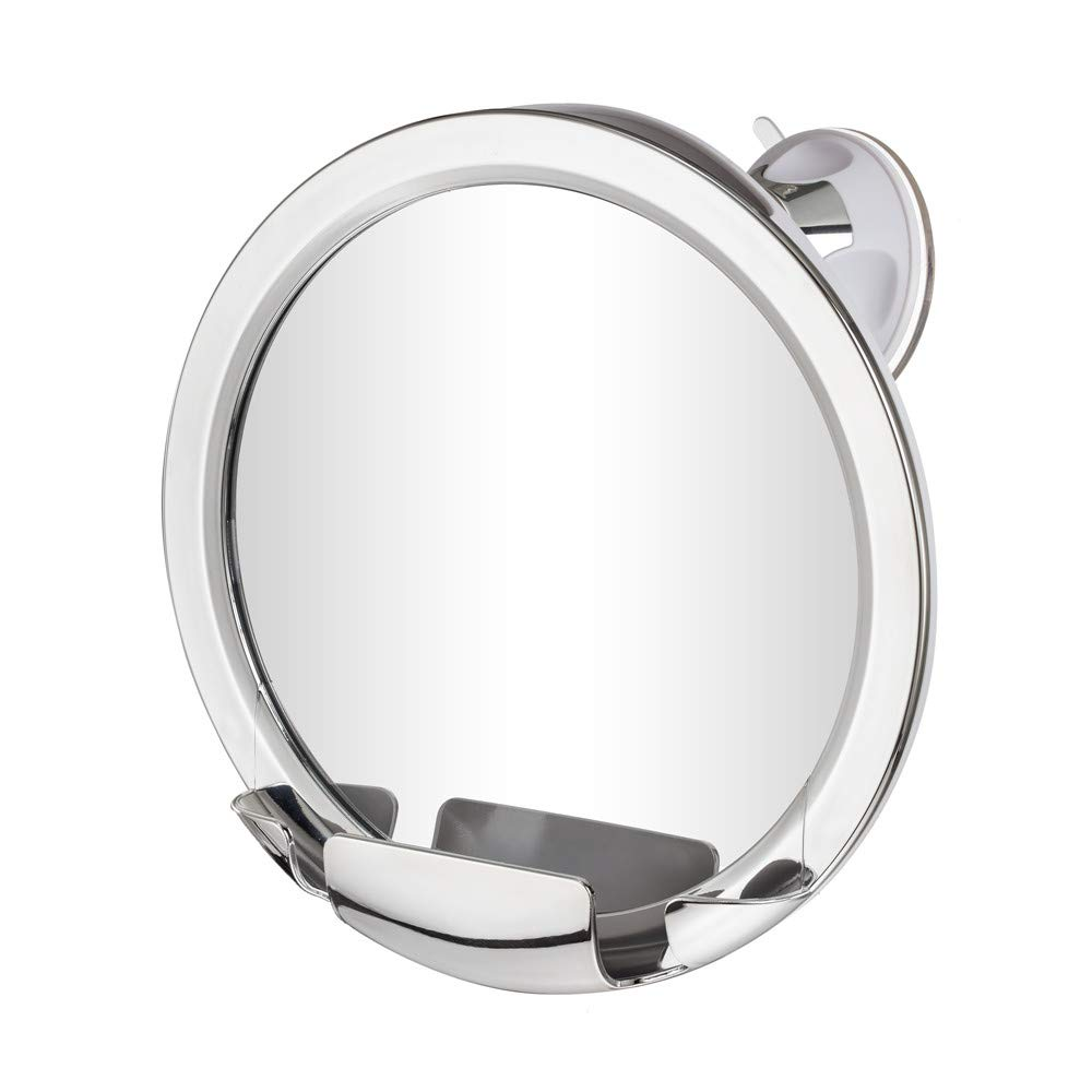Gotofine Fogless Shower Mirror with Advanced Locking Suction, 360 Degree Rotation for Easy Shaving Mirrors Viewing, Guaranteed Lifetime No Fog