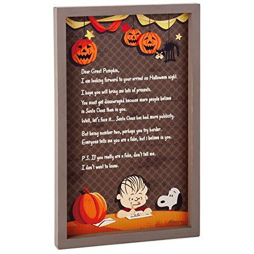Hallmark Peanuts Linus Great Pumpkin Rustic Wood Sign, 9.5x15 Plaques & Signs Movies & -
