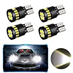 4 Pack T10 W5W 21 x 4014 Car LED Bulbs, Oladwolf Car Led Interior Lights With Canbus Parking Light Reserve Light Side…