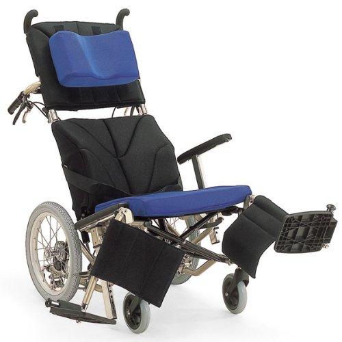 カワムラサイクル ティルトリクライニング 介助式車いす 黒×青メッシュ フレーム:メタリックレッド KPF16 B00832RR3K