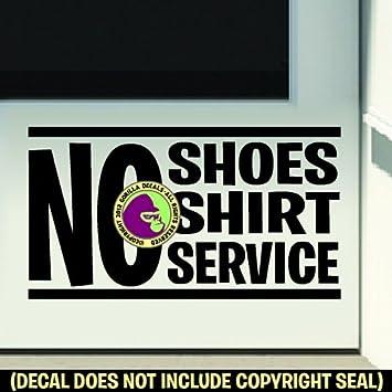 Amazon.com: Sin – Zapatos sin camisa – Sin Servicio vinilo ...