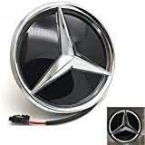 Automotive : IHEX Auto Xenon White Illuminated LED Car Logo Grid Badge for Mercedes Benz A/B/C/CLS/E/GLK/GL/R Series Front Grille LED Emblem Light (Mirror Surface)