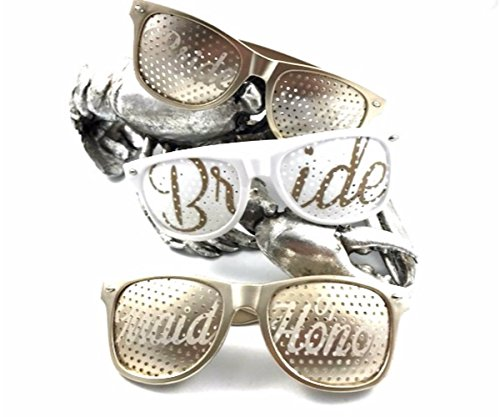 Bridal Bachelorette Party Favors Brides Maid Wedding softer Light GOLD - Party Favors Wedding Sunglass