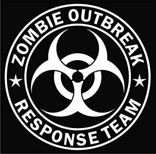 product image for Keen Zombie Outbreak Response Team Vinyl Decal Sticker|Cars Trucks Vans Walls Laptop|White|5.5 in|