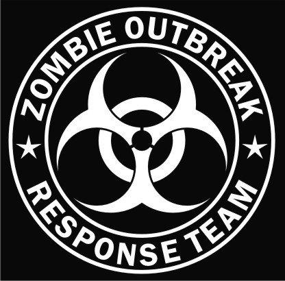 Zombie Outbreak Response Team Vinyl Decal Sticker|Cars Trucks Vans Walls Laptop|WHITE|5.5 In|