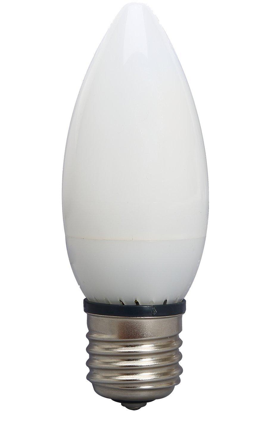 Viribright 25 Watt Equivalent, fully dimmable, B10, Chandelier, E26 Base, Warm White (2700K), LED Light Bulb, Pack of 6 - - Amazon.com
