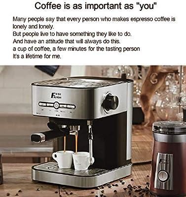 Love Life Cafetera para café exprés de presión portátil, 1400 ml ...