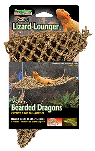 (Penn Plax Lizard Lounger, 100% Natural Seagrass Fibers For Anoles, Bearded Dragons, Geckos, Iguanas, and Hermit Crabs Triangular 10 x 12 Inches)