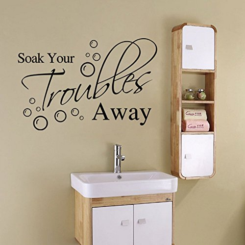 Bathroom Wall Stickers For Soak Your Troubles Away by KiKi Monkey (Image #3)