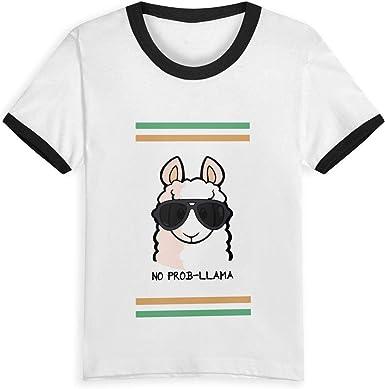 Queen Elena No Prob- Camisetas a la Moda para niños de 2 a 6 años con Estampado de Dibujos Animados Negro Negro (3 años: Amazon.es: Ropa y accesorios