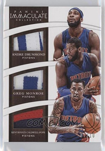 Basketball NBA 2014-15 Immaculate Trios Prime #12 Andre Drummond/Greg Monroe/Kentavious Caldwell-Pope 7/10 Pistons by immaculate