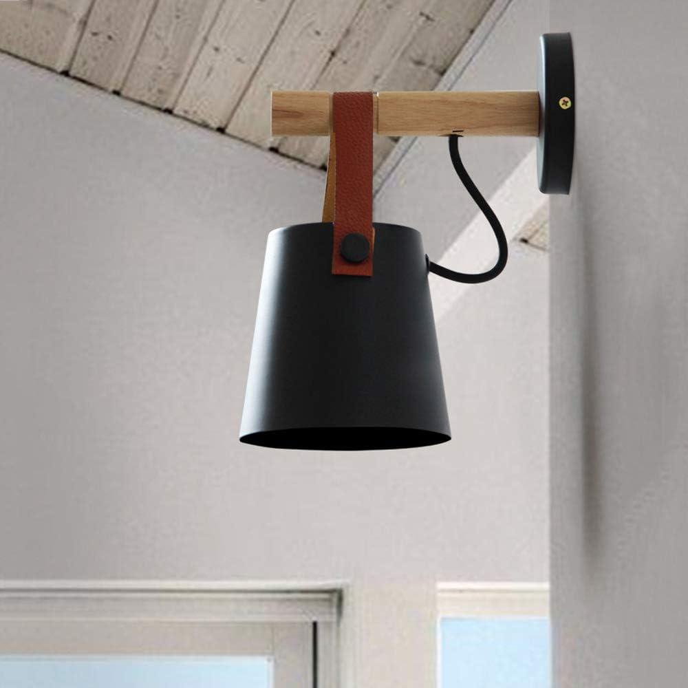 MAGO Pasillo del pasillo nórdica Personalidad pared del hogar de la lámpara minimalista moderna del arte del hierro correa de cuero de lámpara de pared creativa dormitorio de pared de luz de noche Res