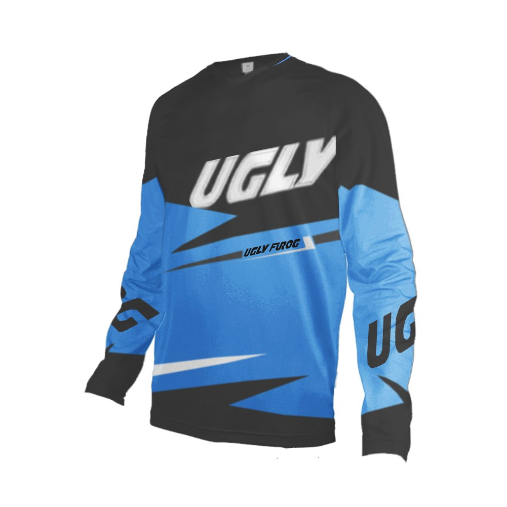 Uglyfrog # 02 2017新作メンズBMX Bike JerseyメンズDownhill MontainバイクTop B077GS7H93 Large|カラー13 カラー13 Large