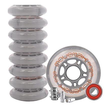 Juego de ruedas para patines en línea 8 x Ruedas de 80 mm, incluye rodamientos