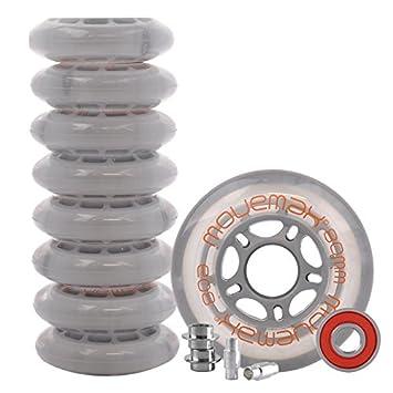 Juego de ruedas para patines en línea 8 x Ruedas de 80 mm, incluye rodamientos ABEC 7: Amazon.es: Deportes y aire libre