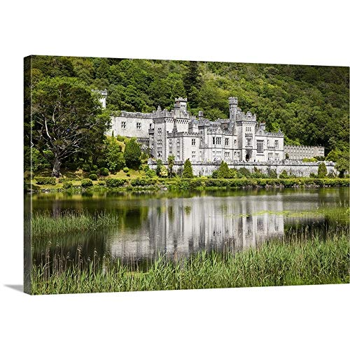 Peter Zoeller Premium Thick-Wrap Canvas Wall Art Print entitled Kylemore abbey, County galway Ireland 24